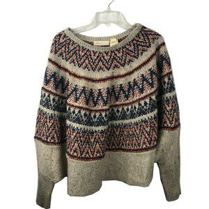 Anthropologie Women Snow Pullover Sweater Size M/L